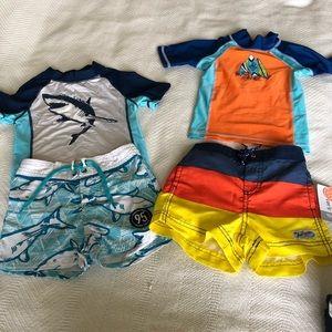 Baby boy swim board shorts